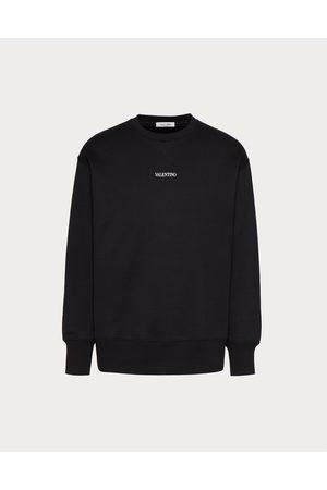VALENTINO Cotton Crewneck Sweatshirt With Valentino Print Man / Cotton 94% 3XL