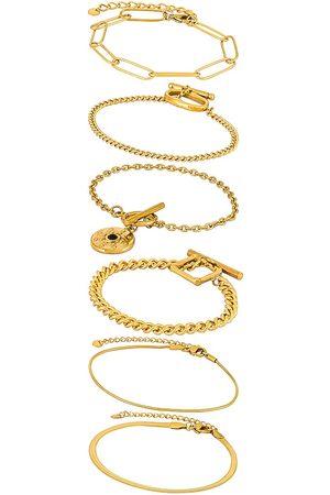Amber Sceats Layered Bracelet in Metallic .