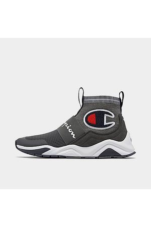 Champion Men's Rally Pro Casual Shoes in Grey/Grey Size 8.0 Suede