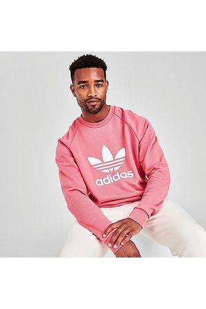 adidas Men Sweatshirts - Men's Originals Trefoil Crewneck Sweatshirt Size Small Cotton