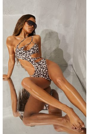 PRETTYLITTLETHING Women Monokinis - Animal Cut Out Ring Swimsuit