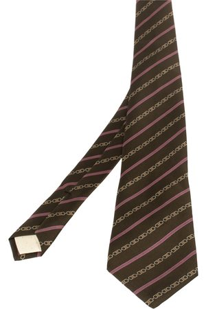 Céline Equestrian Print Silk Tie