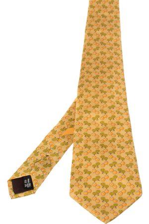 Salvatore Ferragamo Men Neckties - Pale Sheep Print Silk Tie