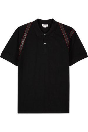 Alexander McQueen Harness piqué cotton polo shirt