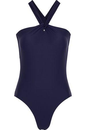 Casa Raki Eleonora Maillot navy halterneck swimsuit