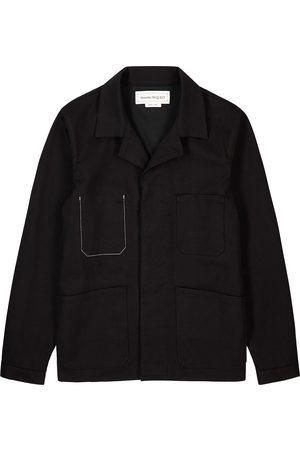 Alexander McQueen Embroidered stretch-denim jacket