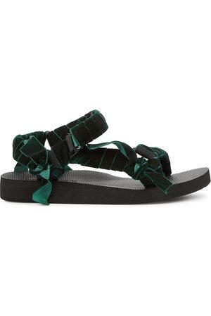 Arizona Love Women Sandals - Trekky velvet-trimmed sandals