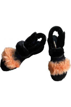 Avec Modération Faux fur Sandals