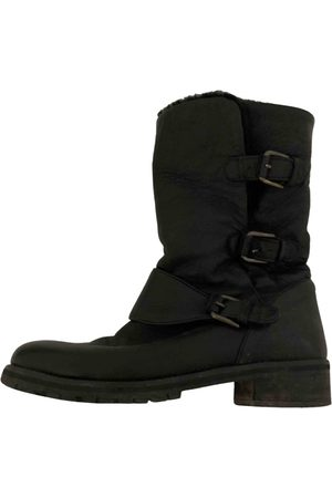 UTERQUE Leather biker boots