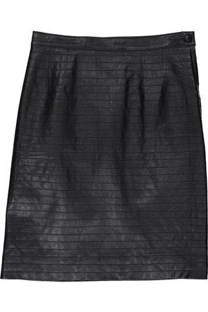 VALENTINO GARAVANI Leather mid-length skirt