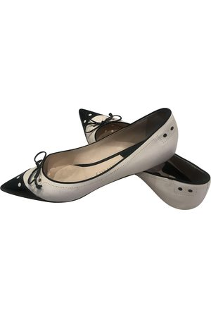 Michel Perry Leather ballet flats