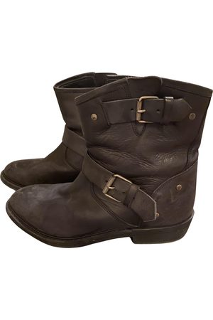 SEMICOUTURE Leather Ankle Boots
