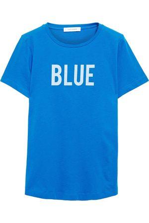 Chinti & Parker Women Short Sleeve - Woman Printed Cotton-jersey T-shirt Royal Size L