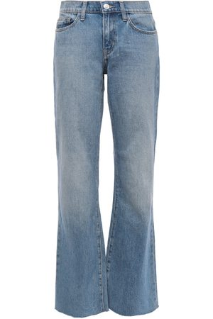 Current/Elliott Women Flares - Woman Faded Mid-rise Flared Jeans Mid Denim Size 24