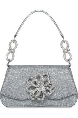MACH & MACH Women Bags - Sm Carrie Flower Glitter Top Handle Bag