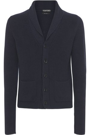 TOM FORD Men Cardigans - Pure Cashmere Knit Cardigan