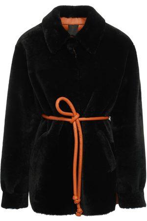 Blancha Reversible Bicolor Shearling Jacket