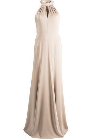 Marchesa Notte Women Halterneck Dresses - Afton halterneck dress - Neutrals