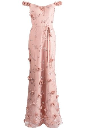 Marchesa Notte Women Printed Dresses - Floral-embroidered maxi gown