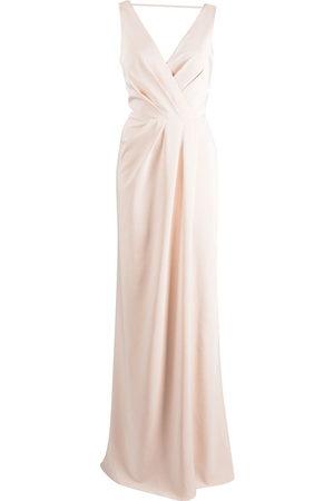 Marchesa Notte Women Evening dresses - Cowl-back floor-length gown