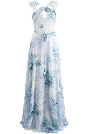 Marchesa Notte Women Printed Dresses - Floral-print cut-out gown