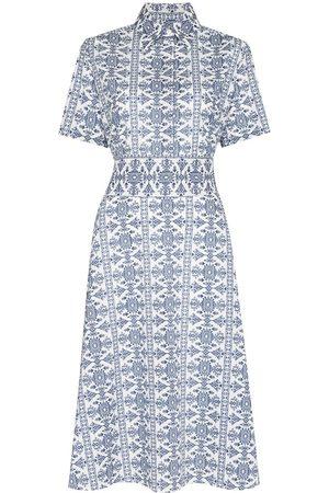 Evi Grintela Women Printed Dresses - Tile-print midi dress