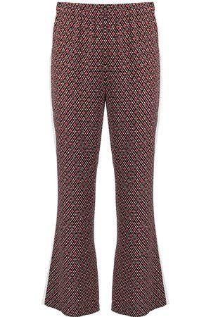 Marni Women Sweatpants - Geometric-pattern cropped track pants
