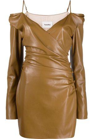 Nanushka Women Strapless Dresses - Moha off-shoulder fitted dress - Neutrals