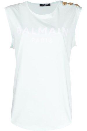 Balmain Women Tank Tops - Logo-print tank top
