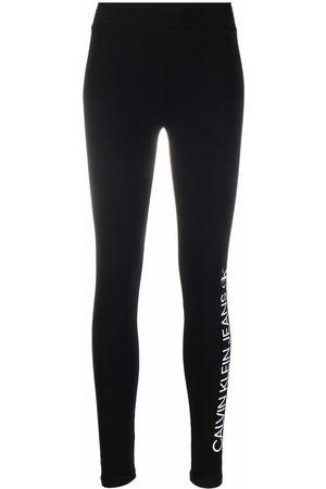 Calvin Klein Women Leggings - Logo-print stretch leggings
