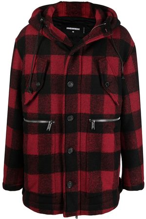 Dsquared2 Checked single-breasted coat