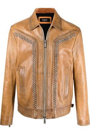 Dsquared2 Stud-embellished leather jacket