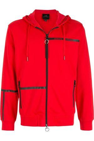 Armani Tape-logo zipped hoodie