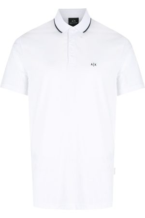 Armani Exchange Logo-print cotton polo shirt