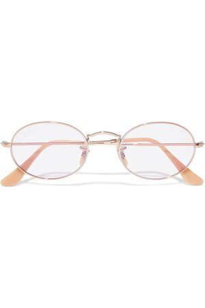 Ray-Ban Woman Oval-frame Rose -tone Sunglasses Rose Size