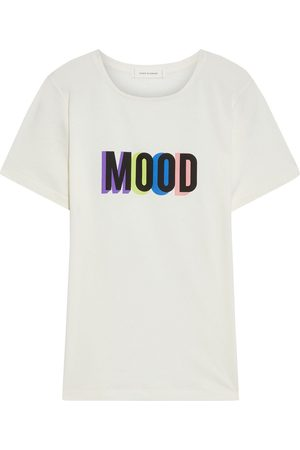Chinti & Parker Woman Printed Cotton-jersey T-shirt Off- Size M