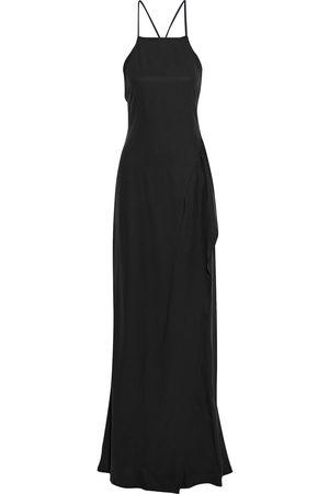 Victoria Beckham Women Evening dresses - Woman Ruffled Silk Crepe De Chine Gown Size 10