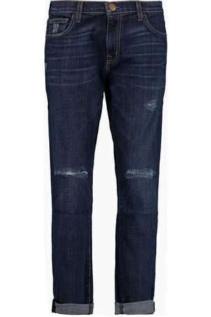 Current/Elliott Woman Distressed Boyfriend Jeans Dark Denim Size 25