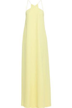 Victoria Beckham Women Evening dresses - Woman Wrap-effect Crepe Gown Pastel Size L