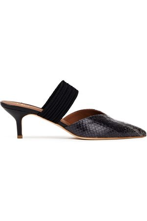 MALONE SOULIERS Women Heeled Pumps - Woman Maisie 45 Braided Cord And Elaphe Mules Anthracite Size 38