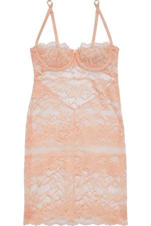 LA PERLA Women Nightdresses & Shirts - Woman Astrid Cutout Leavers Lace Chemise Peach Size I B