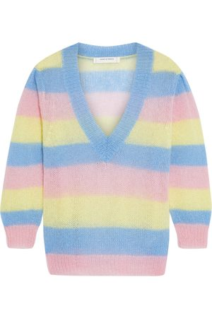Chinti & Parker Woman Striped Mohair-blend Sweater Light Size L