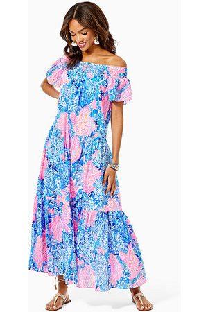 Lilly Pulitzer Women Strapless Dresses - Dezi Off-The-Shoulder Maxi Dress