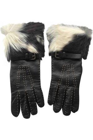 Dolce & Gabbana Leather long gloves