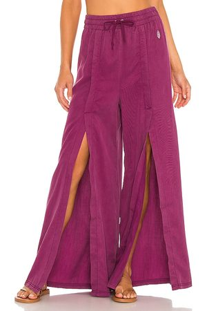 Free People X FP Movement Abs Tracker Solid Pant in Purple.