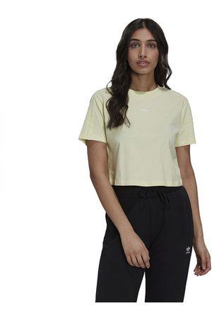 adidas Cropped Short Sleeve T-shirt 34 Haze Yellow