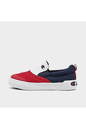 Champion Casual Shoes - Boys' Toddler Prowler Slip-On Casual Shoes in Red/Navy Size 4.0 Canvas/Suede