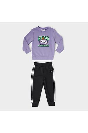 adidas Boys' Toddler Originals x Kevin Lyons Monsters Pullover Hoodie and Jogger Pants Set in / Size 2 Toddler Cotton/Polyester