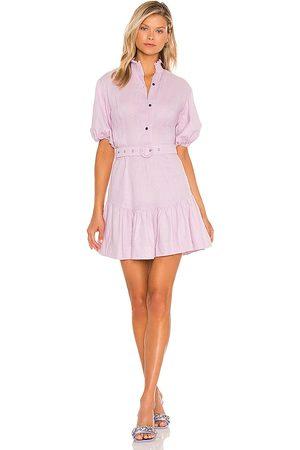 SWF Belted Mini Shirt Dress in Lavender.