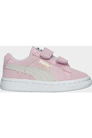 PUMA Casual Shoes - Girls' Toddler Suede Hook-and-Loop Closure Casual Shoes in /Light Size 7.0